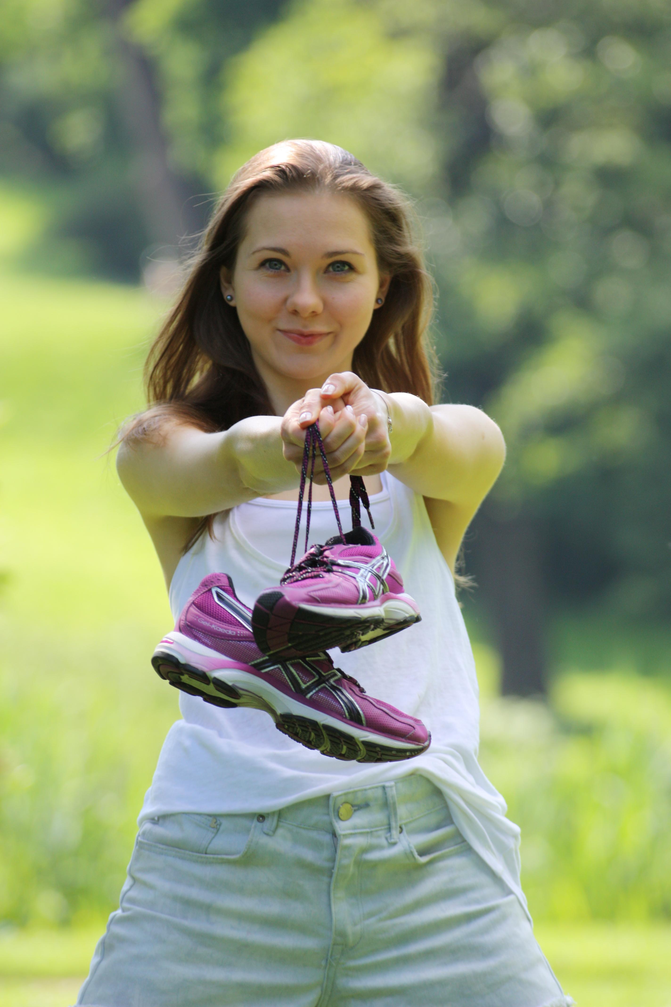 Życie jest piękniejsze w butach do biegania.